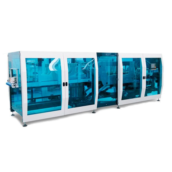 Dron Continue Tray Packer and Wrap Around Machine